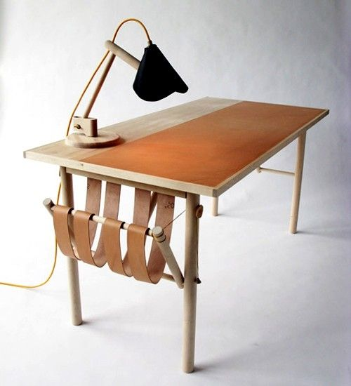 woodleather desk - Wood Desk Designs