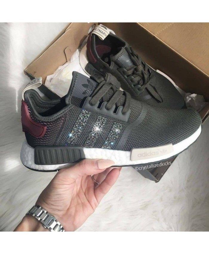 Adidas NMD Runner Grey with SWAROVSKI  352d132db21b