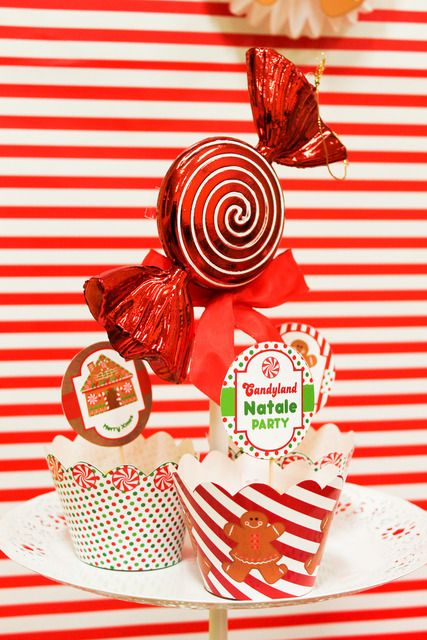 Check out this gingerbread candyland Christmas party!  See more party ideas at CatchMyParty.com!  #partyideas #christmas