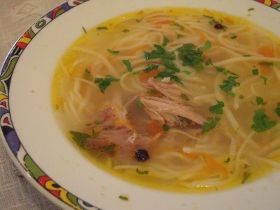 Zama - Moldovan chicken noodle soup. Ultimate comfort food!