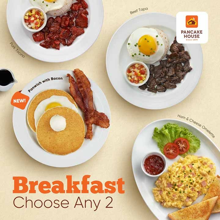 Choose Any Two Promo On Breakfast At Pancake House The Pancake House Breakfast Ham And Cheese Omelette