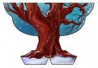Зимнее дерево. Картинка для печати