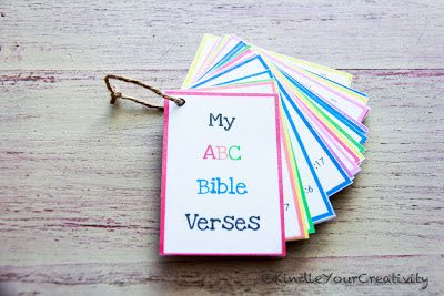 Kindle Your Creativity: Bible Verse ABC Cards