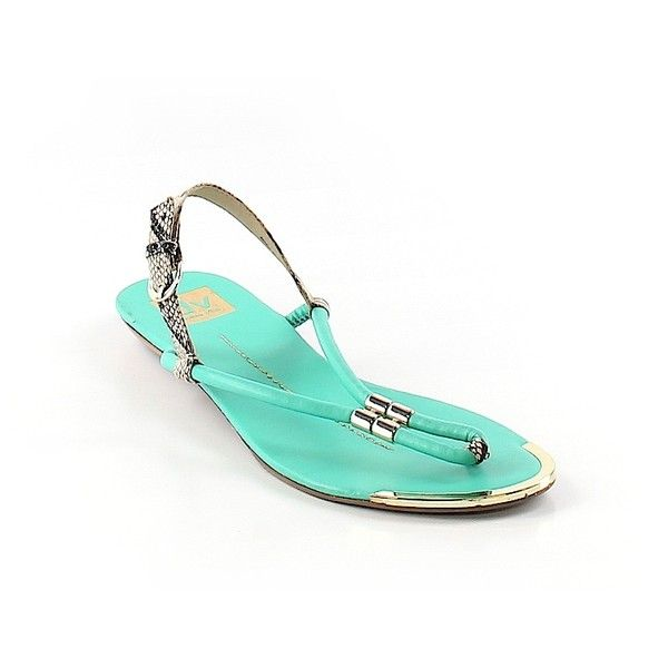 Pre-owned DV by Dolce Vita Sandals Size 9 1/2: Teal Women's Shoes (69 QAR) ❤ liked on Polyvore featuring shoes, sandals, teal, teal shoes, teal sandals, dolce vita footwear, dolce vita and teal blue shoes