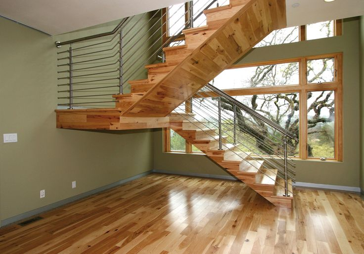 Stainless Steel Stair Rail With Wood Steps By Indital Usa