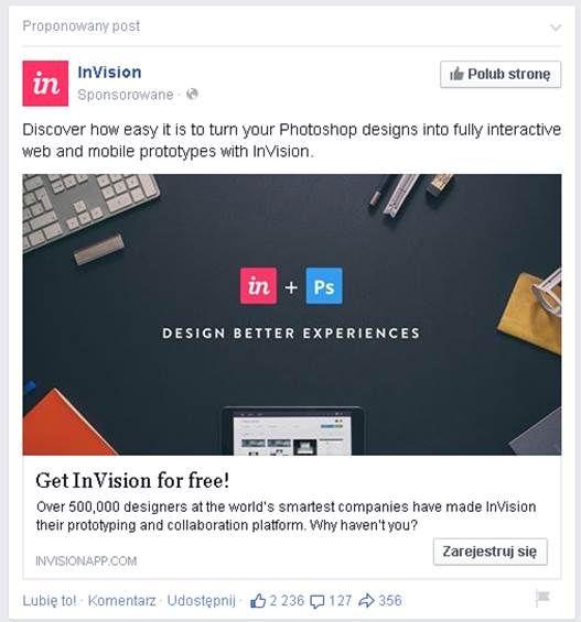 InVision FB Ad