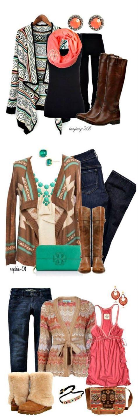 Aztec fashion || Fall fashion ideas || Click through for sources
