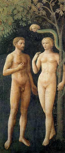 The Temptation of Adam and Eve by Masolino, c.1425