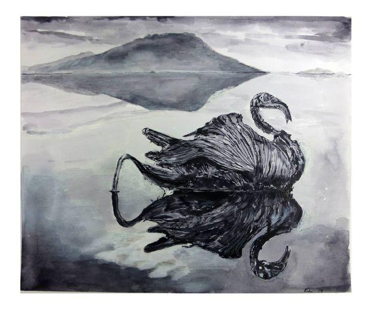 Black Swan by Eric, painting artist at art studio Eduard Moes