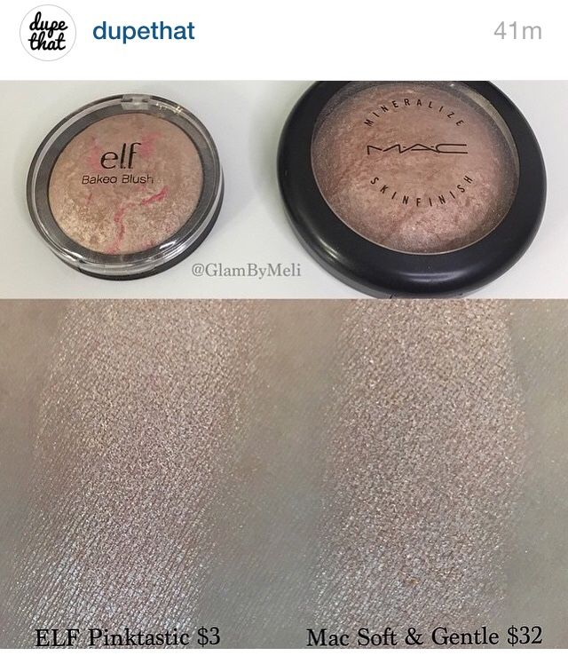 e.l.f.'s Baked Blush in Pinktastic is a dupe for MAC's Soft & Gentle