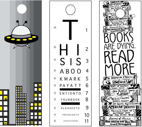Bookmarks by Dorothy Jeffrey, via Behance