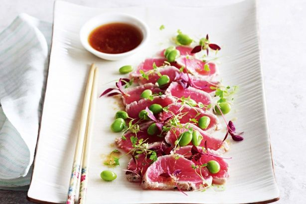 An easy, low kilojoule meal of fresh tuna fillets. Buy the freshest fish you can source for an amazing entree.