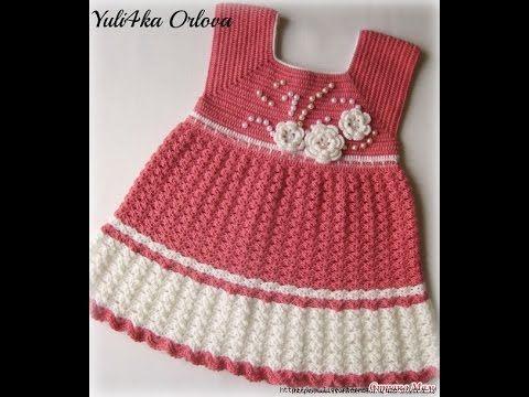 Crochet Patterns| for free |crochet baby dress| 1491