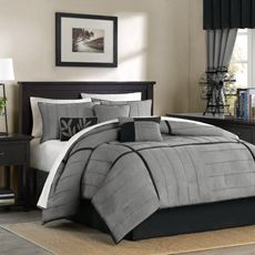 Delightful Mesa King Complete Bed Ensemble   Grey   Bed Bath U0026 Beyond