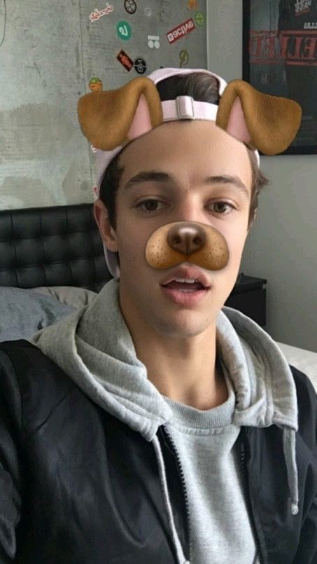 He looks so cute with this filter