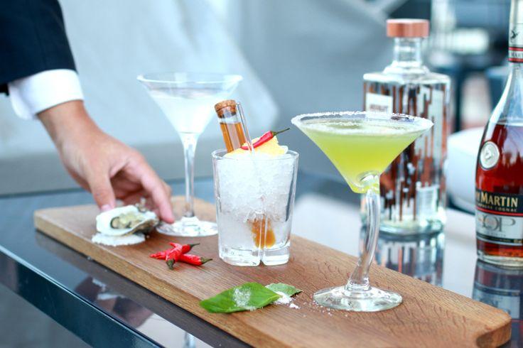 Os três cocktails do RitzBar: Oystini, Grizzly Spice, Hasta La Vista Basil; Lisbon Cocktail Week