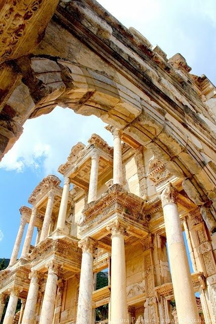 Library of Celsus. in modern Ephesus, Turkey This world is really awesome. The woman who make our chocolate think you're awesome, too. Please consider ordering some Peruvian Chocolate today! Fast shipping! http://www.amazon.com/gp/product/B00725K254