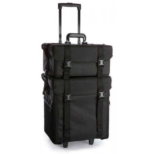 2 in 1 Oxford Fabric Makeup Case Trolley in Black | Buy Makeup Trolleys