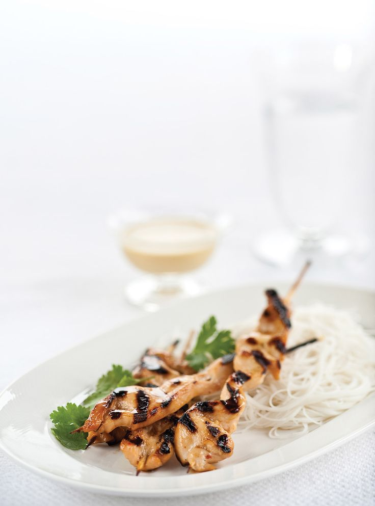 Ricardo's recipe : Chicken Skewers with Peanut Sauce