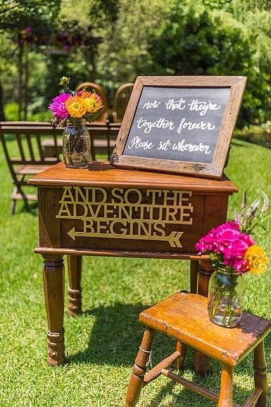 Colourful and Fun Ceremony Flowers // Furniture and Props supplied and installed by Rustic Character Wedding Hire // Photography by Gez Xavier Mansfield Photography // Venue Firescreek Winery.