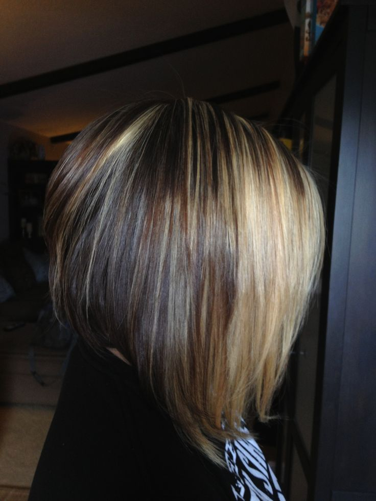 Black hair and blonde layered