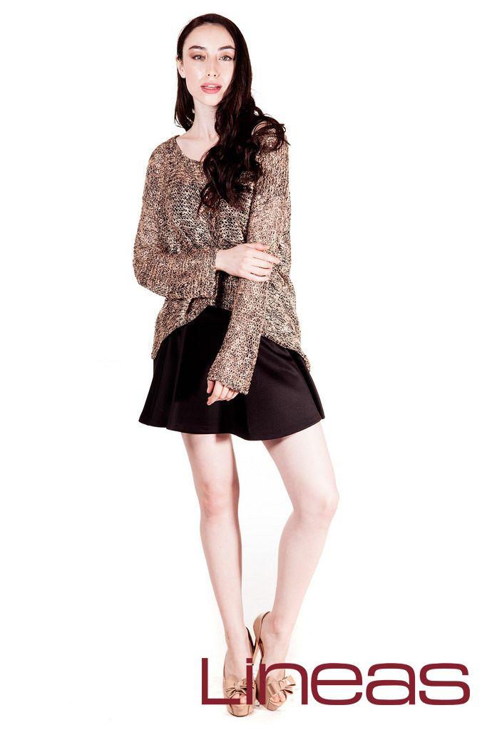 Suéter, Modelo 18930. Precio $250 MXN #Lineas #outfit #moda #tendencias #2014 #ropa #prendas #estilo #primavera #outfit #sueter
