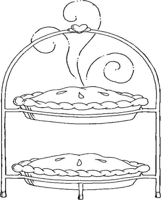 pies coloring page