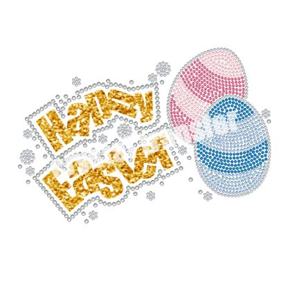 Happy Easter Glitter and Rhinestone Wholesale Transfers