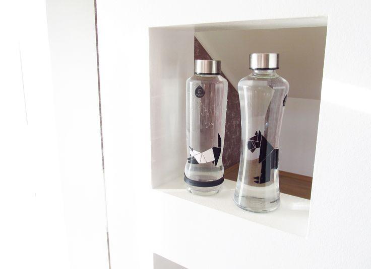 DIY: Color your bottle: black and white design #diy # equabottle #equa #myequa #diyequa