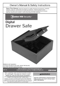 Bunker Hill Digital Drawer Safe
