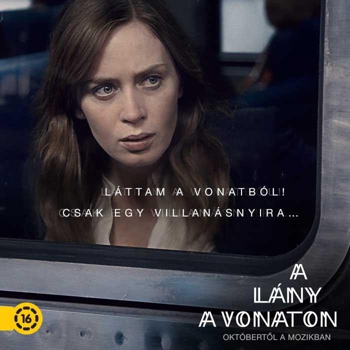 A lány a vonaton film - mozi plakát.
