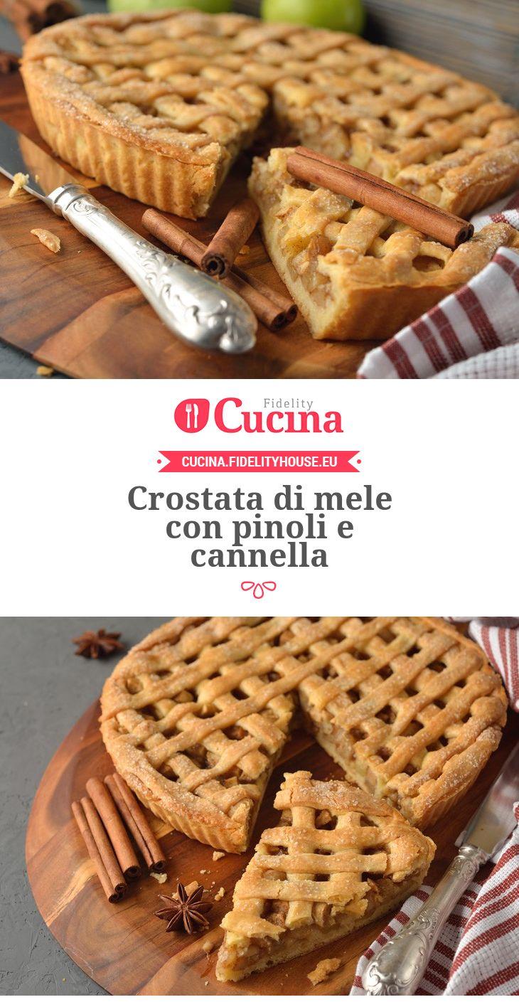 #Crostata di #mele con #pinoli e #cannella