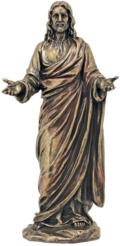 Welcoming Christ statue finely crafted with attention to detail. The Jesus…
