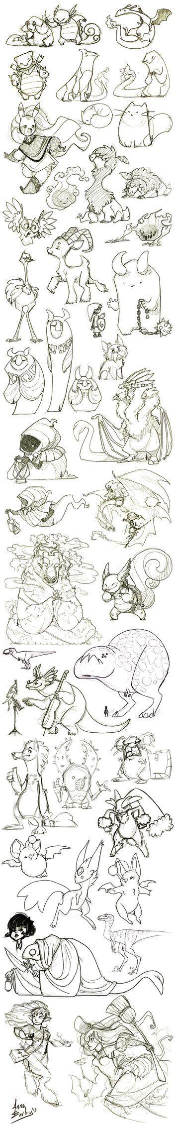 Great Big Sketchdump WInter '13 by Turtle-Arts on deviantART