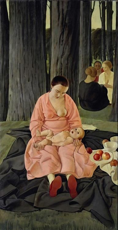 Felice Casorati (Italian, 1883-1963) - Portrait of Hena Rigotti, 1924