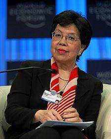 Numero trenta: Margaret Chan Fung Fu-chun (cinese tradizionale: 陳馮富珍; cinese semplificato: 陈冯富珍; pinyin: Chén Féng Fùzhēn; jyutping: Can4 Fung4 Fu3 Jan1; Hong Kong, 1947) è un medico e funzionario cinese, attualmente direttore generale dell'Organizzazione mondiale della sanità. Fonti: Wikipedia.