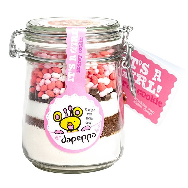 Dapeppa Koekjespot It's a Girl | Dapeppa (cadeau) koekjespotten en broden om zelf te bakken | De SmaakBeleving, keuze uit meer dan 1200 producten!