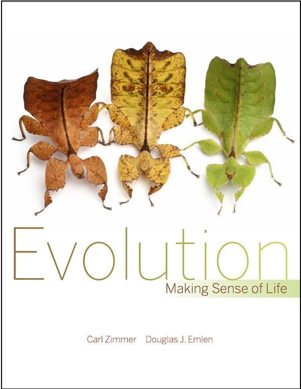 What a great cover shot for a book on evolution. Carl Zimmer and Douglas Emlen