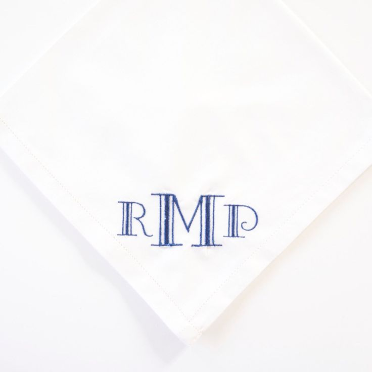 7 best Menu0027s embroidered handkerchief images on Pinterest Bandanas - best of example letter semi block style