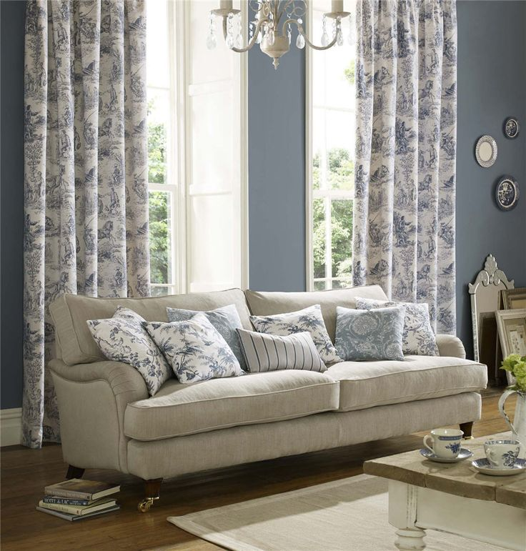 Archive collection by Ashley Wilde  #charlesparsonsinteriors #fabric #material #curtains #drapery #cushions #blue #print #toile #ashleywilde