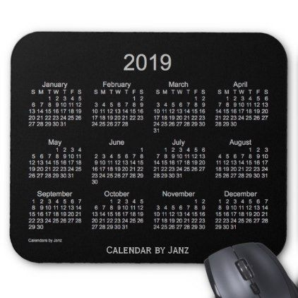 2019 Neon Silver Calendar by Janz Mouse Pad - event gifts diy cyo events