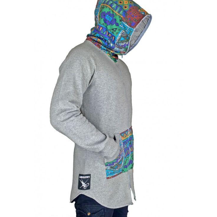 Zipper Aztec Grey Hoodie