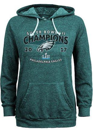 Philadelphia Eagles Womens Midnight Green 2018 Super Bowl Champions Hoodie 26b422345
