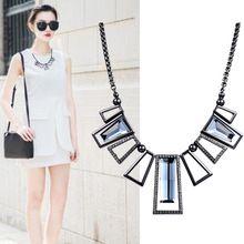 Nova Geométrica selvagem colar de resina de moda para as mulheres gargantilha colar de strass Mosaico colar de Acessórios de moda(China (Mainland))