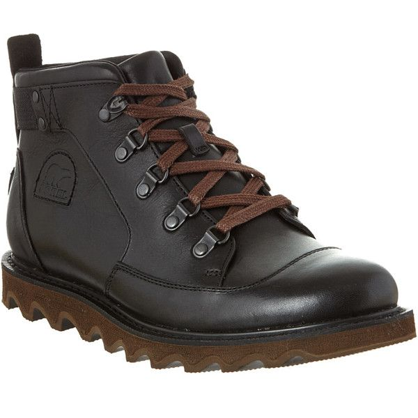 Sorel Sorel Men's Mad Mukluk Waterproof Leather Boot (396544101) (6.845 RUB) ❤ liked on Polyvore featuring men's fashion, men's shoes, men's boots, black, shoes, mens leather shoes, mens waterproof boots, sorel mens boots, mens waterproof shoes and mens leather boots