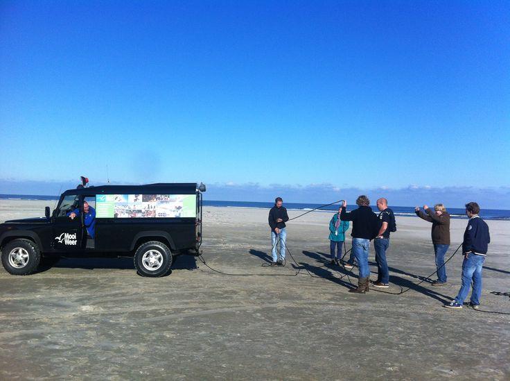 Samen aan inhoudelijke doelstellingen werken op het strand van Terschelling