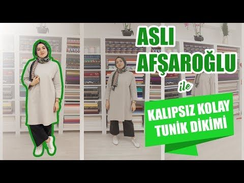 67fb4a5e30357 Kalıpsız Kolay Tunik Dikimi Aslı Afşaroğlu - Easy Tunic Sewing Without  Pattern - YouTube