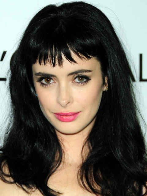 Krysten Ritter oval face bangs