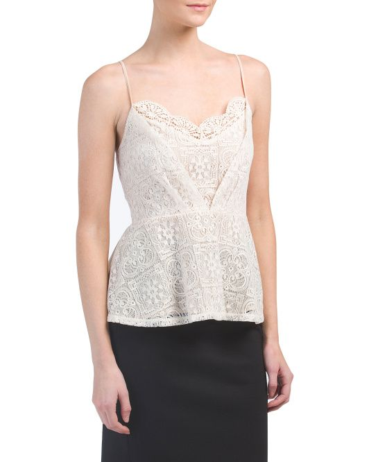 Juniors+Lace+Peplum+Date+Night+Top