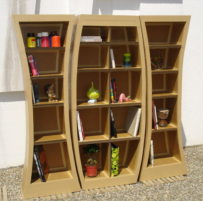 curved shelves cardboard